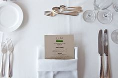 The couple's menu in a pocket-fold styled napkin.
