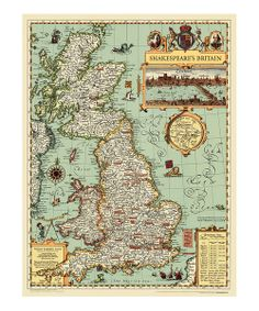 Explore Shakespeare's Britain in full color! This impeccably illustrated and detailed map adds distinction to any wall while educating and fascinating every playwright-in-training.