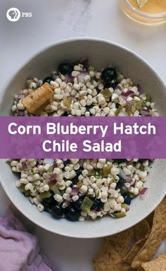 This Hatch Chile Blueberry Corn Salad recipe is easy to throw together for a…