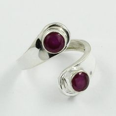 RUBY AGATE STONE !! Adjustable Designer 925 Sterling Silver Ring by JaipurSilverIndia on Etsy