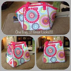 two looks one bag! Thermal Lunch Break Tote www.mythirtyone.com/thegiftlady, facebook.com/groups/thegiftlady