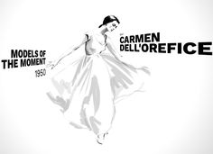 Carmen Dell'Orefice by Shira Barzilay l 1950 l #ModelsoftheMoment
