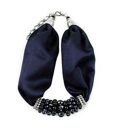 Šátek se zapínáním Letuška II - - tmavo-modrý - Bijoux Me…