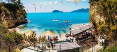 The beach on Cameo island Zakynthos.  Greece.  Photography by Alistair Ford
