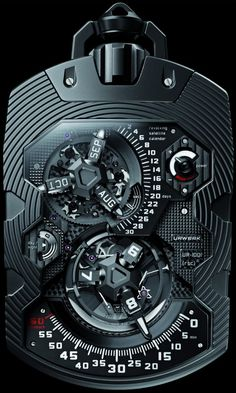 Steam Punk Pocket Watch- Urwerk UR-1001 Zeit Device Pocket Watch
