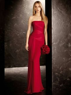 Red wedding dresses Vera Wang in Cardinal red
