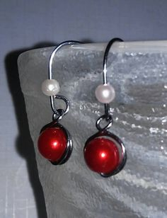 1/4-1/2 Wrapped Pearl Dangle Earrings. LOVE them!! Made by Me in TheForestBlackRoom on Etsy