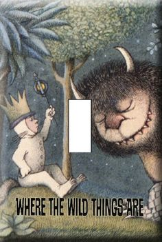 Where the Wild Things Are Switchplate Cover light switch, book, switch plate, kid