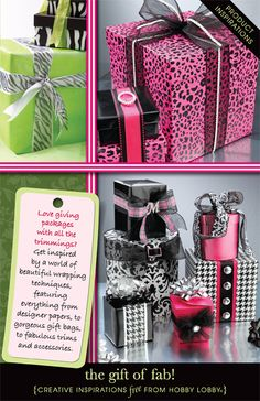 HobbyLobby Projects - The Gift Of Fab