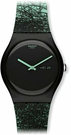 Swatch Unisex SUOZ704 Quartz Plastic Black Dial Watch Swatch. $66.50. Water-resistant to 30 M (99 feet). Casual watch. Durable mineral crystal protects watch from scratches,. Case diameter: 41 mm. Quartz movement