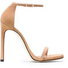 Stuart Weitzman NUDIST (1.790 RON) ❤ liked on Polyvore featuring shoes, sandals, sandales, stuart weitzman, stuart weitzman shoes, beige sandals, stuart weitzman sandals and beige shoes
