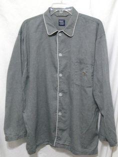 Polo by Ralph Lauren Sleepwear Button Down Pajama Night Shirt Top S/M #PoloRalphLauren #Nightshirt