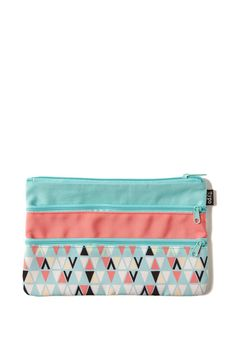 Store your stationery in style the Double Archer Pencil Case. <br> This case is perfect for your stationery, cosmetics or cash. <br> Boasting two zippered compartments and fully lined; this cases comes in seasonal designs with amazing prints and fabrics. <br> Dimensions: 23cm x 15cm <br/>