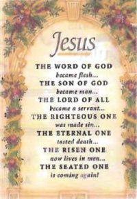 Do you know my Jesus?
