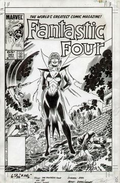 Fantastic Four #281 cover by John Byrne & Jerry Ordway.