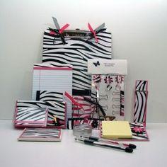 Zebra Print Mega Office Supply Gift Set