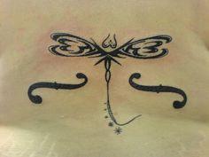 Image detail for -Tribal butterfly lower back tattoo design for women.