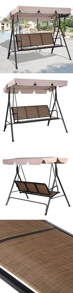Swings 79700: Outdoor 3 Seat Porch Swing With Canopy Patio Furniture  Cushion Chair Hammock Bed  U003e BUY IT NOW ONLY: $192.9 On EBay!