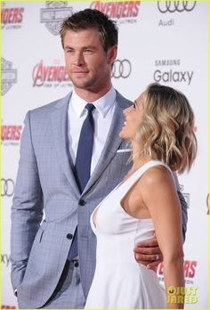 Chris Hemsworth and Elsa Pataky at 'Avengers: Age of Ultron' Premiere!