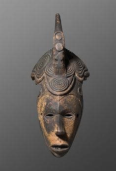 Agbogho mmuo mask [Igbo] Igbo Nigeria H: 39 cm Wood 19th - early 20th century Provenance: - Private collection, Spain.