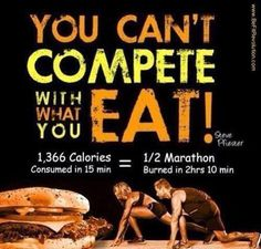 You can't undo bad eating habits by working out. And you can definitely undo workout benefits with bad eating habits.