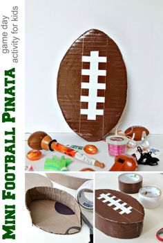 DIY Mini Football Piñata
