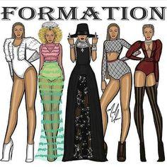 Beyoncé Formation Music Video Art More Nice Pins Press King B, Divas, Girls Run The World, Beyonce Knowles Carter, Mrs Carter, Blue Ivy, Comic, Queen B, African American Women