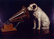 His Master's Voice (1898) by Francis Barraud.  Jack Russell Terrier