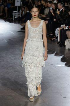 Zac Posen at New York Fashion Week Spring 2016 - Crochet Dress