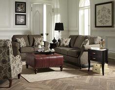 England Furniture 1Z00 with Ophelia Tweed and Tulsa Classic fabrics