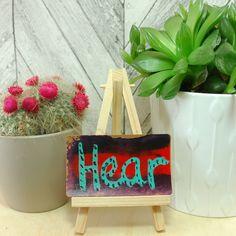 Mindfulness Reminder Card ~ Hear ~ Gift for Listener, Counsellor Mentor Artwork, Meditation Focus Card, Holistic Practitioner Gift Idea, Art