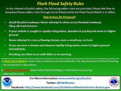 Safety rules for flash floods
