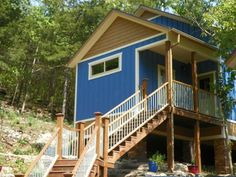 Treehouses have 1 or 2 bedrooms--perfect for groups.