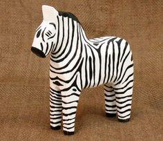 Zebra Dala Horse (Dalahäst). via Etsy.
