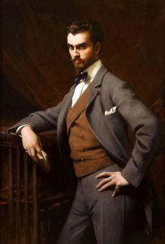 HOT DAMN - hold me back! James Hazen Hyde by Théobald Chartran (French, 1849 Oil on canvas. New-York Historical Society, Gift of James Hazen Hyde, English Gentleman, Vintage Gentleman, Victorian Gentleman, Victorian Men, Gilded Age, First Novel, Historical Society, Mode Style, Men's Style