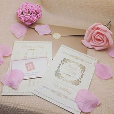 Stationery set by @heyheycard  #invitation #invitatons #weddinginvites…