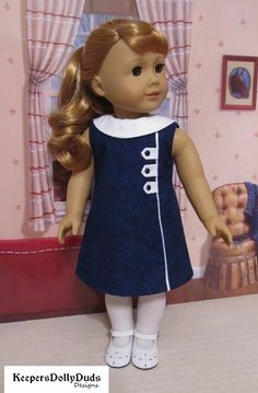 dress Pixie Faire Keepers Dolly Duds Town and Country Dress Doll Clothes Pattern Designed to Fit Dolls such as American Girl® - PDF American Doll Clothes, Girl Doll Clothes, Doll Clothes Patterns, Clothing Patterns, Girl Dolls, Dress Clothes, Frocks For Girls, Dresses Kids Girl, Kids Outfits