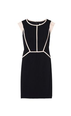 Rebecca Taylor Piped Cap Sleeve Shift Dress