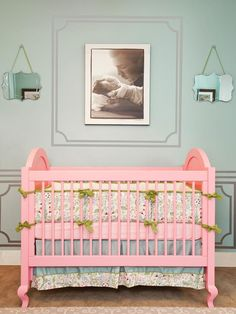 why not do a crib in a really fun colour?