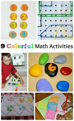 Great ideas for infusing some fun & color to your math activities!