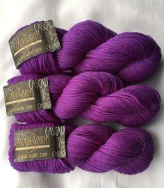 CASCADE YARNS 220 / Purple Hyacinth 7808 DyeLot # 6181 / Peruvian Highland Wool by dcoyshouseofyarn on Etsy