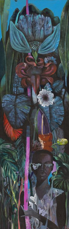 http://www.whatiftheworld.com/exhibitions/2013/03/01/strange-flowers-by-olaf-hajek/  From Strange Flowers ~ a solo exhibition of new paintings by Olaf Hajek.