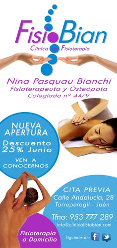 Promo Inicial Clínica de Fisioterapia y Osteopatía FisioBian