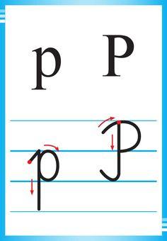 Alfabet polski, pisany dla dzieci do druku 29 Kids And Parenting, Montessori, Alphabet, Preschool, Writing, Education, Improve Handwriting, Speech Language Therapy, Lyrics