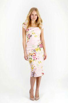Seville Rose Cara Pencil Dress | The Pretty Dress Company