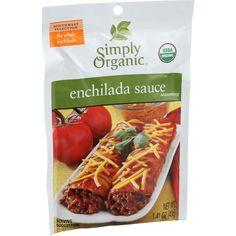 Simply Organic Enchilada Sauce - Organic - 1.41 oz - Case of 12                                                                                                                                                                                 More