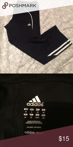 Adidas work out capris Mid rise capris from Adidas. Size large but look more like a medium. In like new condition.  No pockets. adidas Pants Capris