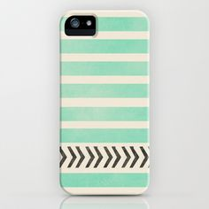 MINT STRIPES AND ARROWS Galaxy S5 Case by Allyson Johnson - $35.00