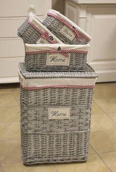 canastas de mimbre decoradas para el hogar