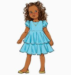 Little Girls' Ruffle Dress Pattern  Toddlers' Dress by blue510